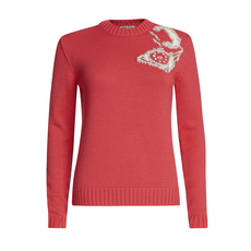 Miu Miu Intarsia Wool Crew Neck Sweater Pink