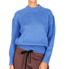 Prada Ribbed Cuffs And Hem Sweater Blue