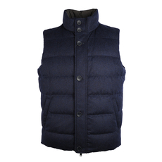 Herno Zipped Down Vest Navy Blue