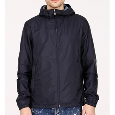Prada Reversible Nylon Jacket In Blue Azzurro