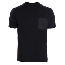 Prada Stretch Cotton T-Shirt Black