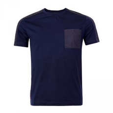 Prada Stretch Cotton T-Shirt Navy