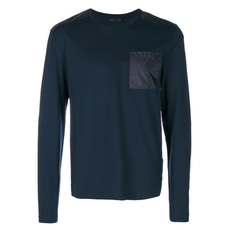 Prada Long Sleeves T-Shirt Dark Blue