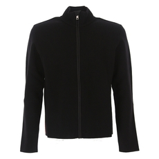 Prada Wool And Nylon Cardigan Black
