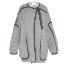 Chloe Oversized Knit Coat Grey