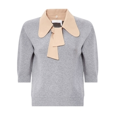 Chloe Pussy Bow Collar Wool And Cashmere Knitwear