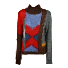 Chloe Mock Neck Sweater Multicolor