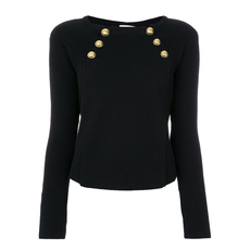 Red Valentino Button Embellished Sweater Black