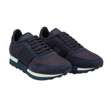 Moncler Suede Lace-Up Sneaker Blue