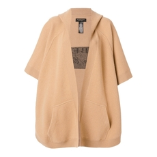 Burberry Hooded Logo Cape Beige