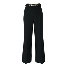 Gucci Horsebit Cropped Trousers Black