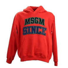 Msgm 'Since' Cotton Hoodie Red