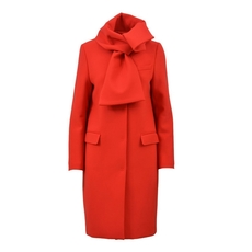Msgm Wool Coat Red