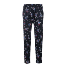 Msgm Track Flower Logo Pants Black