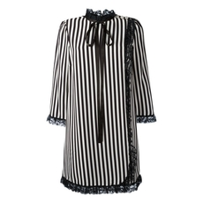 Marc By Marc Jacobs Striped Babydoll Dress Black/White