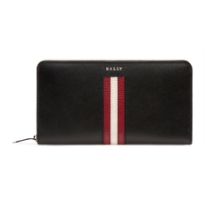 Bally  Salen Women's Calf Leather Zip Around Wallet In Black