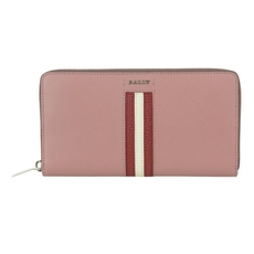Bally  Salen Women's Calf Leather Zip Around Wallet In Pink