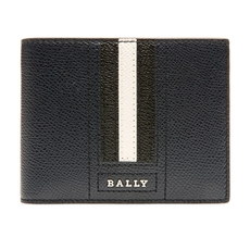 Bally Tevye Bovine Leather Wallet Navy