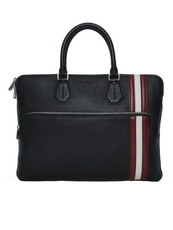 Bally Seedorf Men'S Leather Business Bag In Black