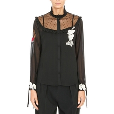 Red Valentino Lace Insert Shirt