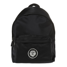 Versace Large Lion Head Nylon Backpack Black