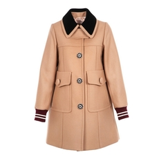 N°21 Camel Single-Breasted Coat
