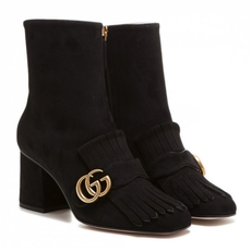 Gucci Suede Ankle Boot Black