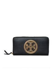 Tory Burch Charlie Zip Continental Wallet Black