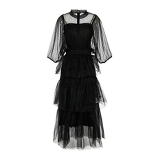 Red Valentino  Black Tulle Dress