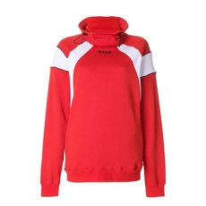 Msgm High Neck Sweatshirt Red