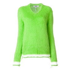 Msgm Stripe Detail Jumper Green