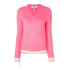 Msgm Stripe Detail Jumper Pink