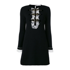 Philosophy Di Lorenzo Serafini Longsleeve Dress With Bib Detail Black