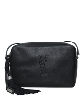 Saint Laurent Black Camera Bag In Leather