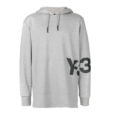 Y-3 Printed Hooded Sweatshirt Grey