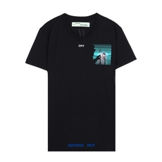 Off-White Peep Oversize T-Shirt Black