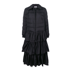 Red Valentino Padded Tier Coat Black