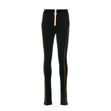 Off White Zipped Sports Leggings Black