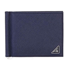 Prada Bi-Fold Money Clip Navy