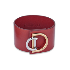 Christian Dior Bracelet In Gold Tone & Palladium Finish Metal Red