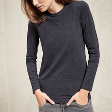 Brunello Cucinelli Stretch Cotton Jersey T-Shirt With Monili Grey