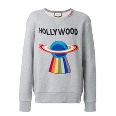 Gucci Cotton Sweatshirt With Planet Grey