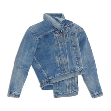 Balenciaga Pulled Denim Jacket Blue