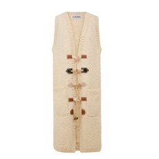 Loewe Long Vest Toggles Off-White