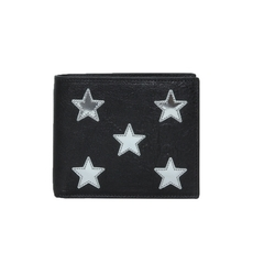 Saint Laurent Leather Wallet With Mirrow Stars Black