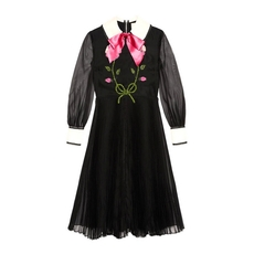 Gucci Embroidered Silk Organdy Dress