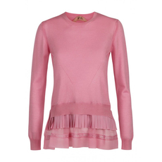 N°21 Layer Effect Sweater Pink