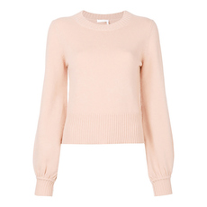 Chloe Bell Sleeved Sweater Misty Rose