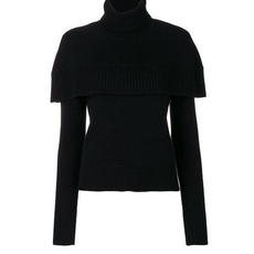 Chloe Cape Shoulder Sweater Black