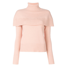 Chloe Cape Shoulder Sweater Misty Rose